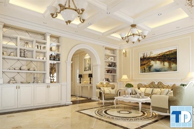 Không gian phòng khách và phòng ăn