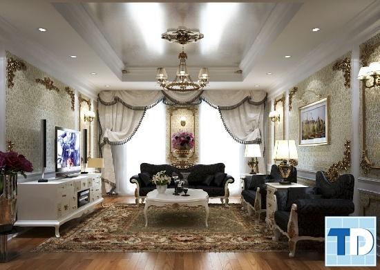 Ngôi nhà lộng lẫy, xa hoa với đồ nội thất cao cấp