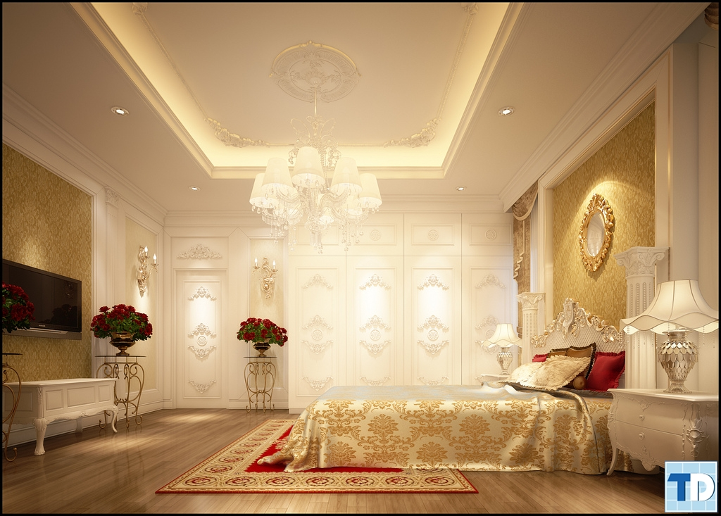 Phòng ngủ master trầm ấm kiều diễm