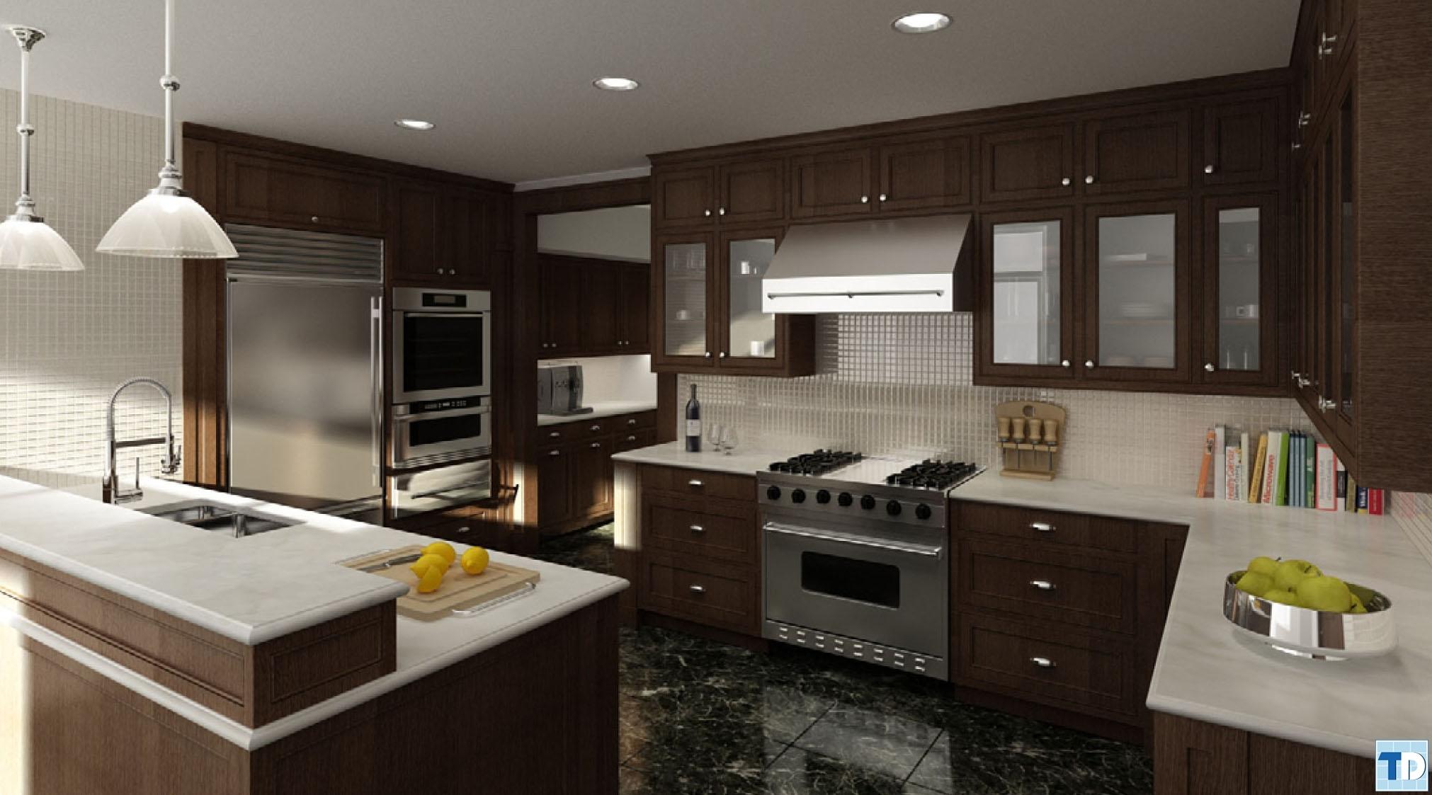 Phòng bếp cao cấp, hiện đại