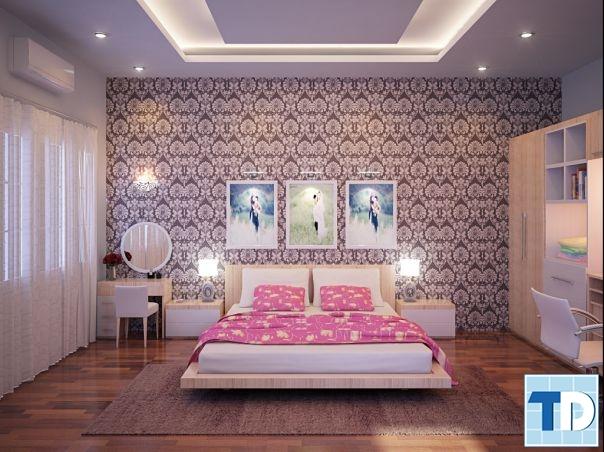 Phòng ngủ thơ mộng, nữ tính
