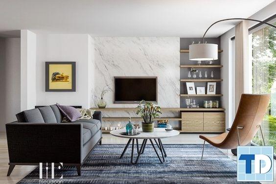 Phòng khách với thiết kế mở thông thoáng