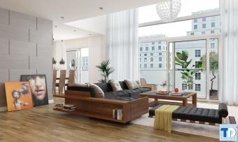 Mẫu thiết kế nội thất chung cư cao cấp 110m2 sang trọng lịch lãm