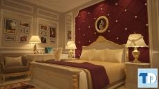 Ngắm thiết kế phòng ngủ nội thất tân cổ điển trắng lộng lẫy quyến rũ