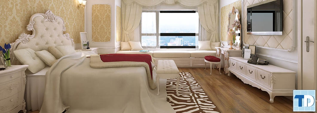 Phòng ngủ với các món đồ nội thất cao cấp