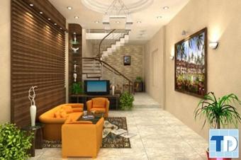 Thiết kế nội thất phòng khách nhà ống đẹp đẳng cấp tại Hà Nội