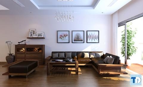 Không gian sang trọng, thông thoáng với nội thất tối giản