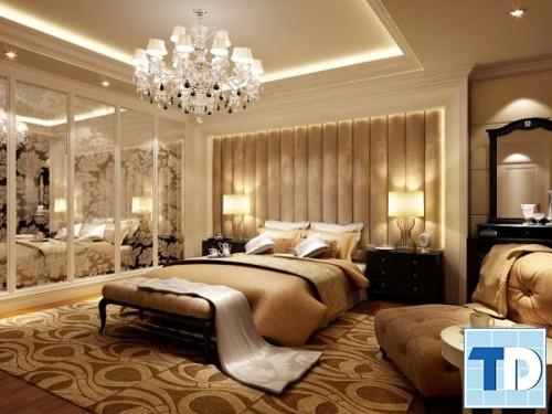 Phòng ngủ tân cổ điển trầm ấm