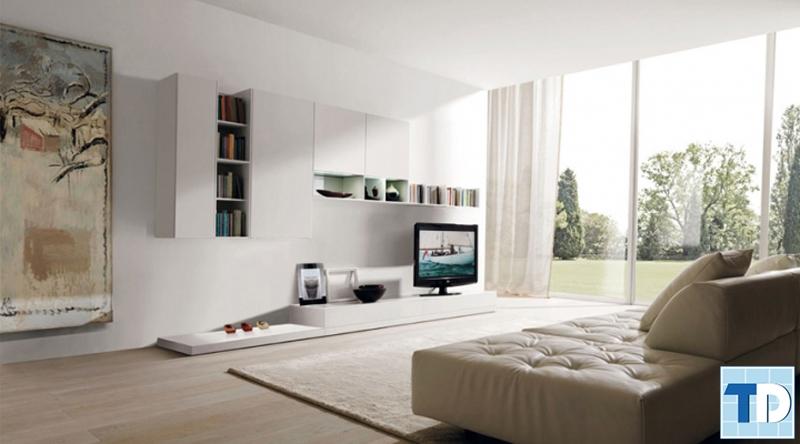 Không gian thông thoáng với nội thất đơn giản