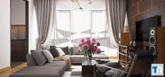 Không gian hoàn mỹ trong thiết kế nội thất chung cư 85m2