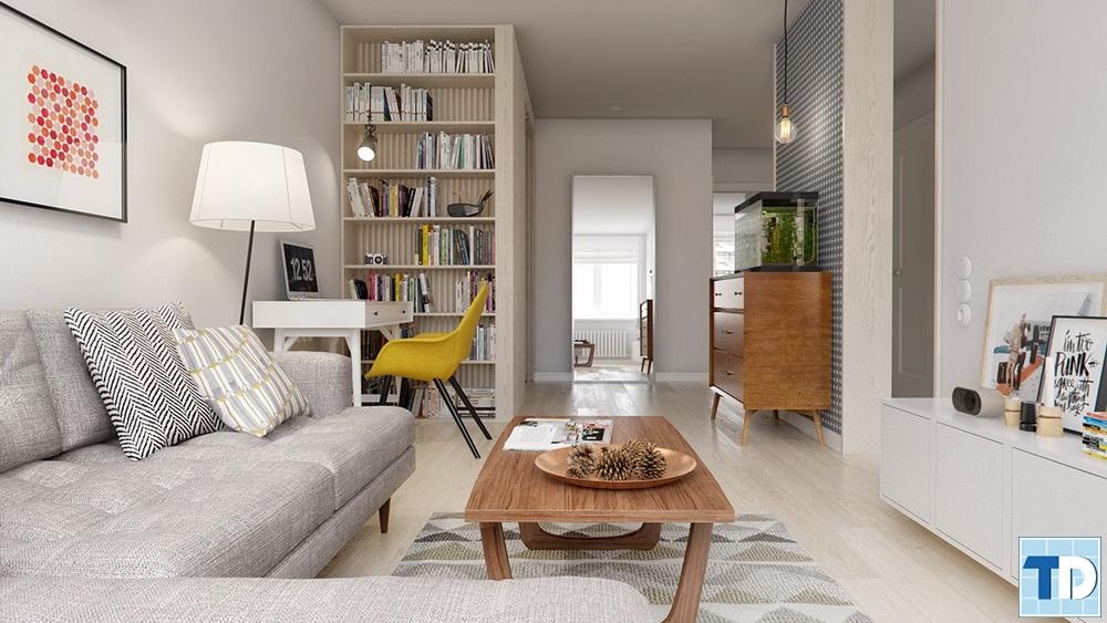 Không gian nội thất hiện đại, cá tính