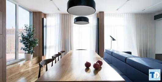 Thiết kế mở với nội thất hiện đại