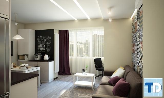 Phòng khách chung cư nhỏ hiện đại, tiện nghi