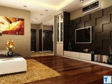 Phòng khách chung cư ấm cúng, hiện đại, quyến rũ khó cưỡng