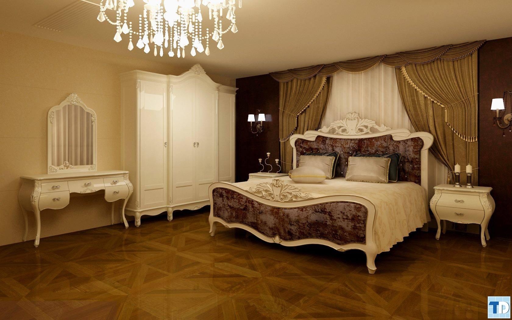 Nội thất phòng ngủ tân cổ điển sang trọng, quý phái