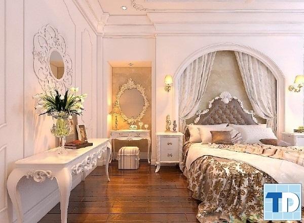 Phòng ngủ tân cổ điển lộng lẫy