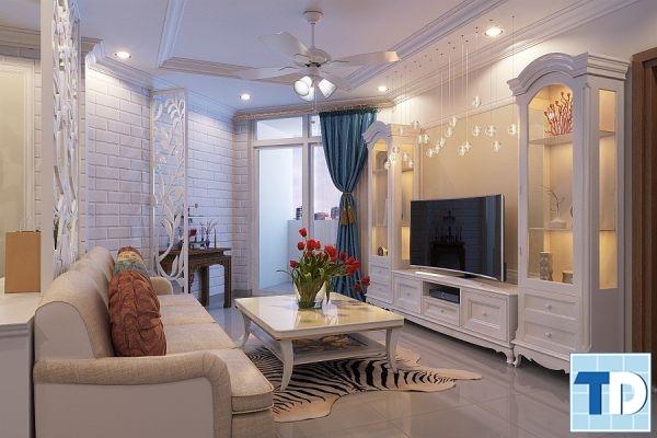 Căn hộ chung cư phong cách tân cổ điển nhẹ nhàng