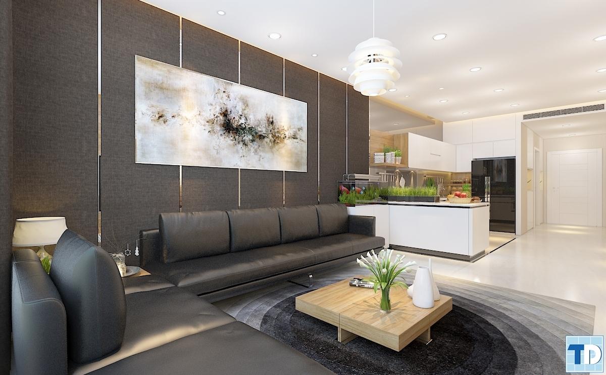 Phòng bếp với không gian rộng