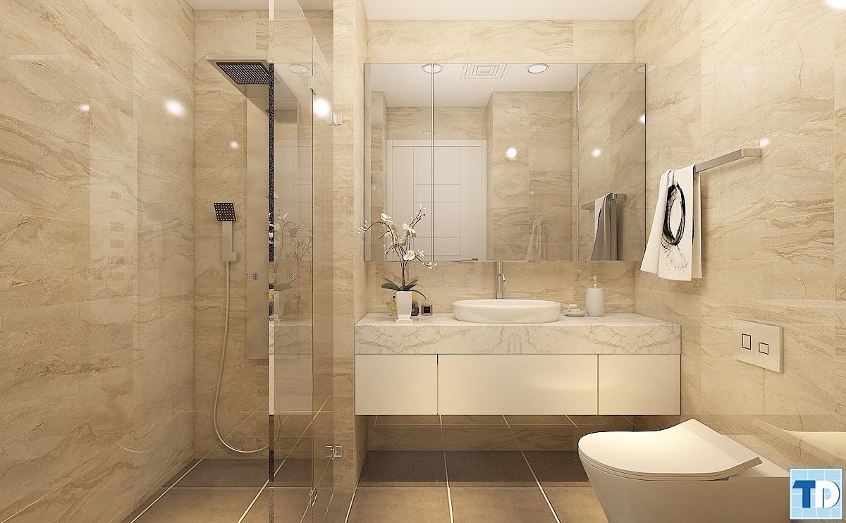 Thiết kế nội thất phòng tắm hiện đại và sang trọng