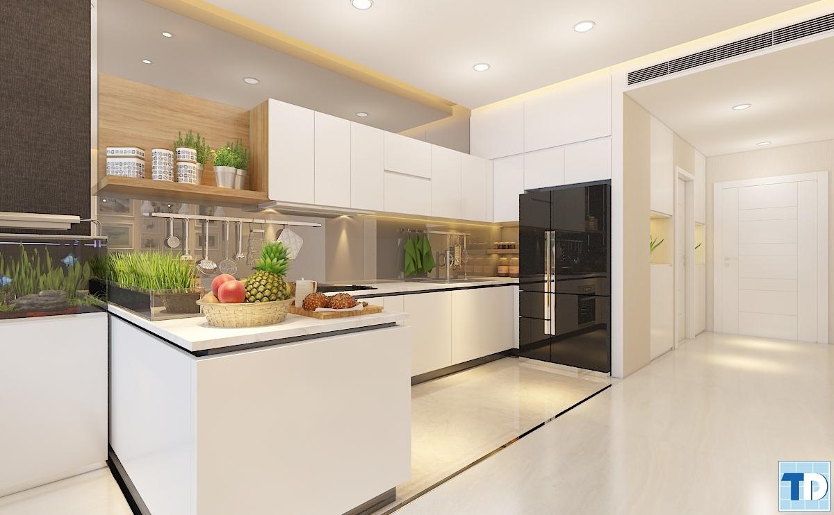 Căn bếp đầy đủ tiện nghi với những tiện ích đạt chuẩn quốc tế