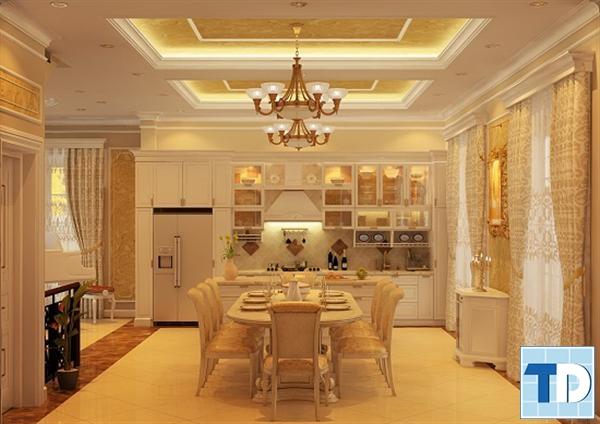 Phòng ăn và bếp tân cổ điển
