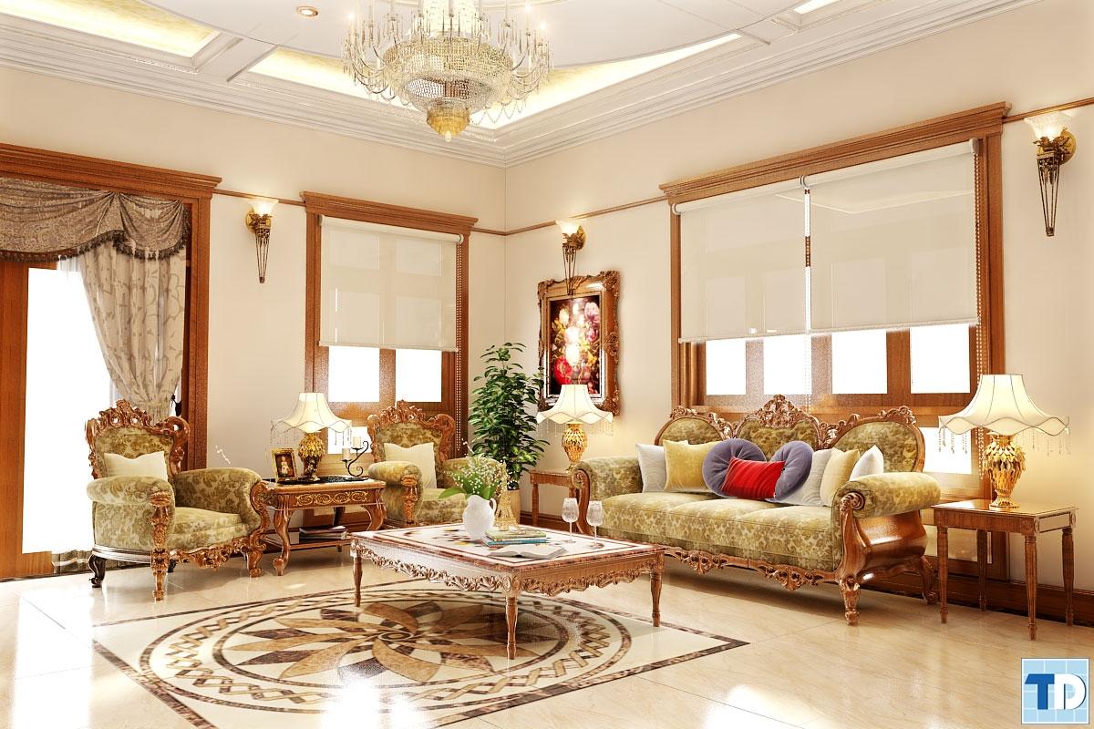 Chết mê với thiết kế nội thất tân cổ điển đẹp giá rẻ