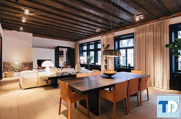 Không gian ấm cúng nhờ nội thất gỗ