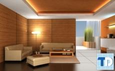 Mẫu thiết kế nhà đẹp với nội thất gỗ ấm cúng mộc mạc