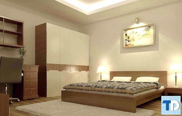 Phòng ngủ con trai giản dị