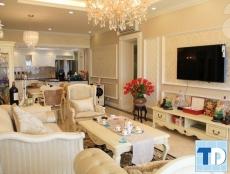 Nội thất nhà biệt thự đẹp đẳng cấp với sofa tân cổ điển cao cấp