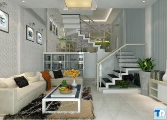 Nội thất nhà đẹp 2 tầng đơn giản gần gũi với thiên nhiên