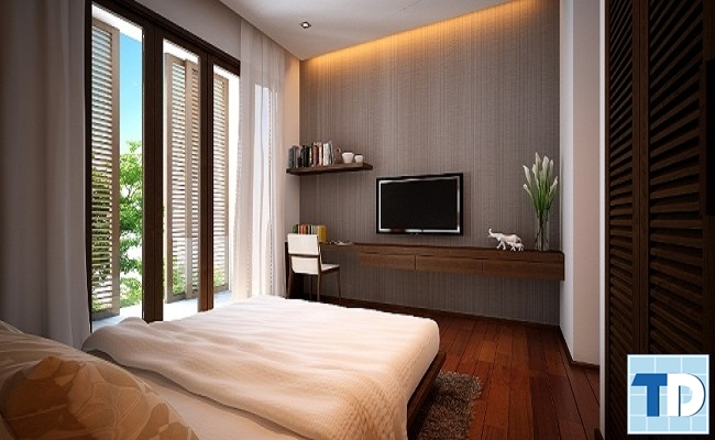 Phòng ngủ master đơn giản sang trọng