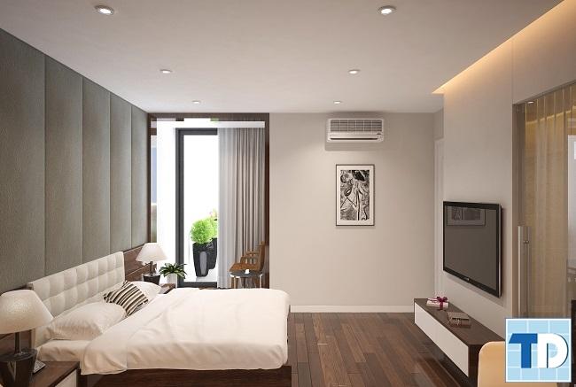 Không gian phòng ngủ hiện đại tiện nghi