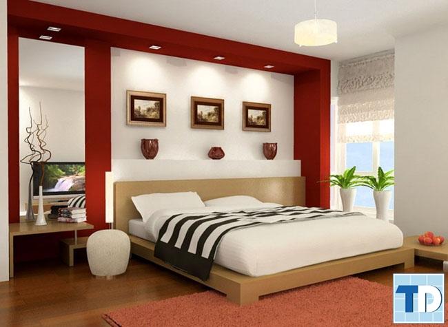 Nội thất phòng ngủ đơn giản nhẹ nhàng