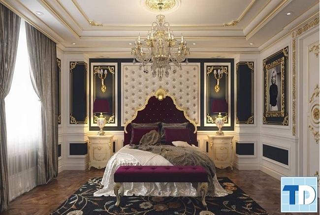 Phòng ngủ master với nội thất cao cấp