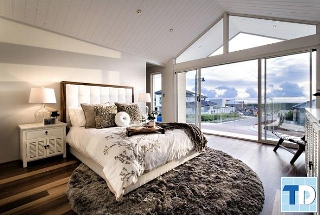 Phòng ngủ thiết kế hướng view ra cảnh quan thiên nhiên