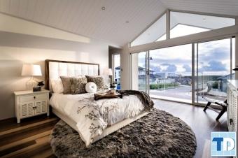Thiết kế nội thất nhà đẹp bằng gỗ cho phòng ngủ hiện đại sang trọng