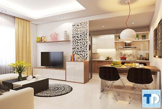 Không gian căn hộ chung cư nhỏ hiện đại sang trọng