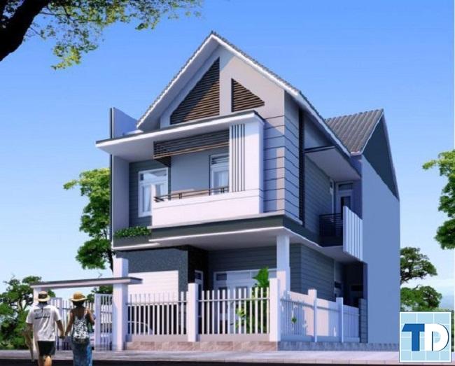 Thiết kế nhà 2 tầng nông thôn