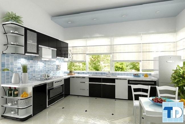 Thiết kế không gian xanh trong căn bếp