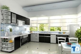 Màu sắc nội thất phòng bếp với các mẫu thiết kế nội thất nhà nhỏ đẹp