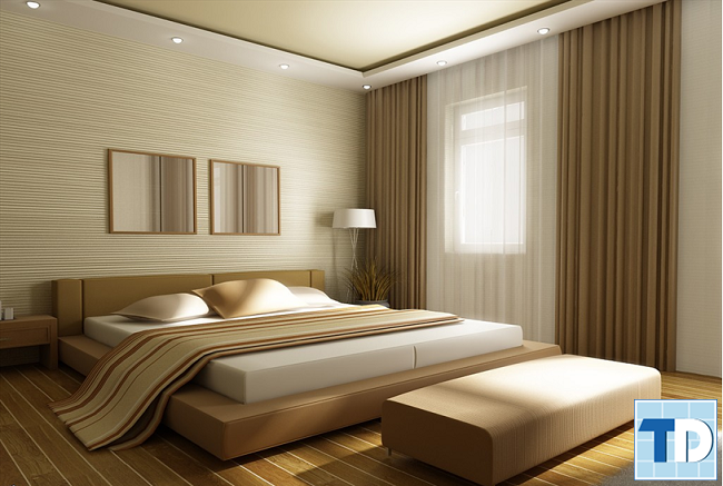 Thiết kế phòng ngủ với gỗ mộc mạc