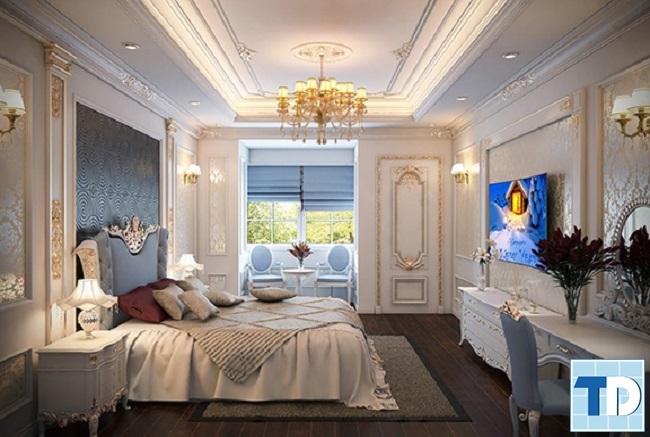 Phòng ngủ tân cổ điển quý phái, tinh tế