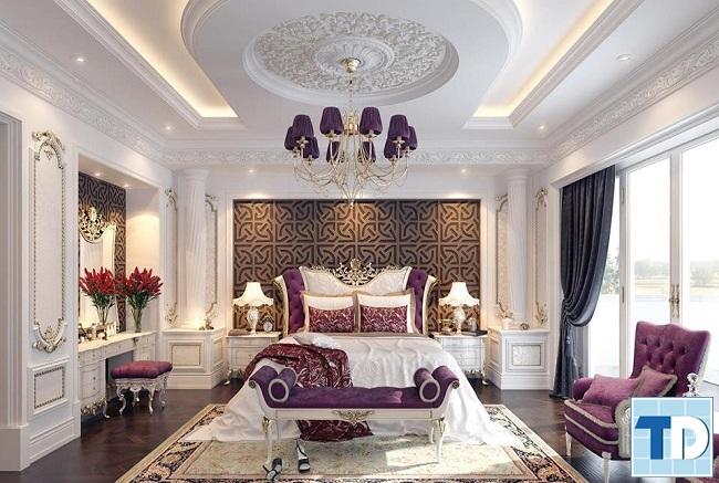 Phòng ngủ tân cổ điển sang trọng, lộng lẫy
