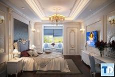 Các mẫu thiết kế phòng ngủ tân cổ điển đẹp say đắm