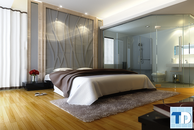 Phòng ngủ hiện đại với nội thất tiện nghi