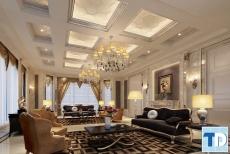 Các mẫu thiết kế nội thất phòng khách tân cổ điển đẹp