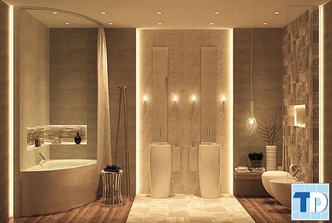 Phòng tắm tiện nghi sang trọng