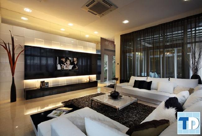 Phong cách nội thất phòng khách hiện đại
