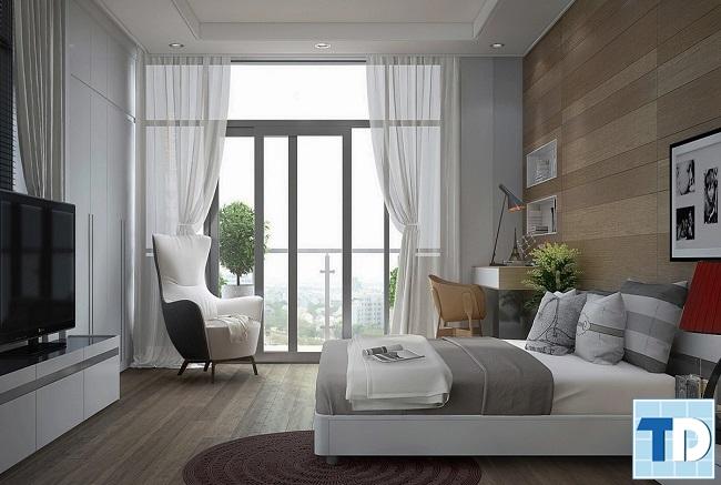 Phòng ngủ con trai nội thất thiết kế đơn giản
